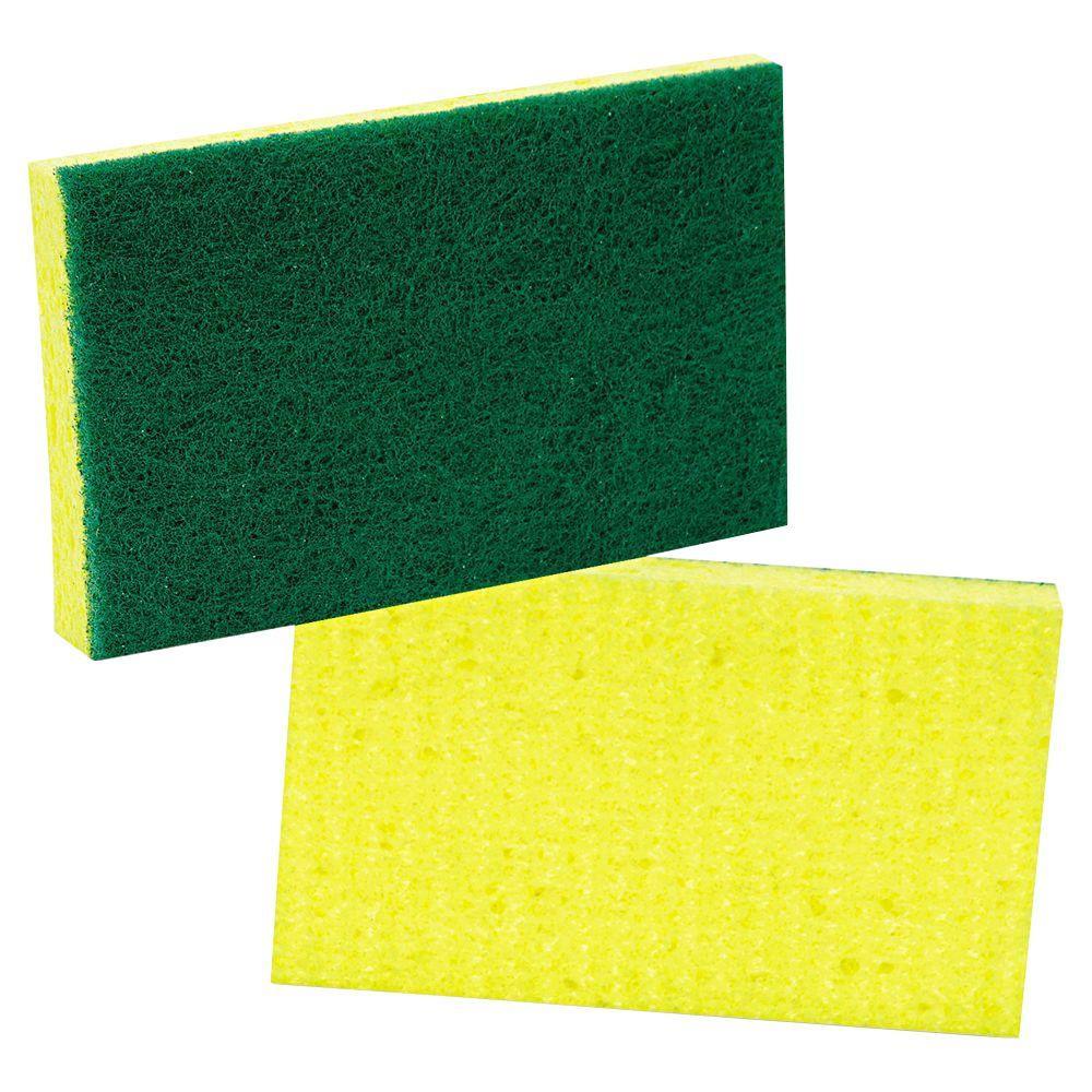 3-3/5 in. x 6-1/10 in. Medium-Duty Scrubbing Sponge (Case of 10)