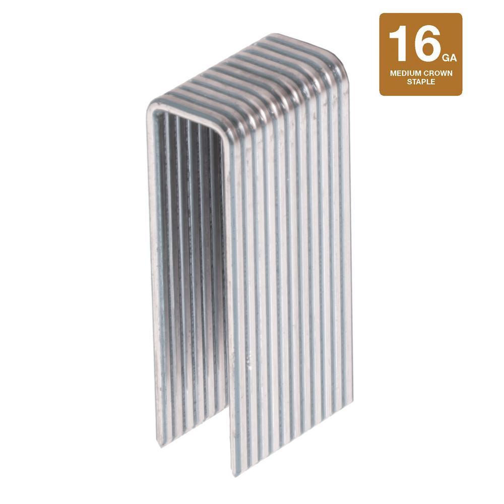 1-1/2 in. x 16-Gauge 316 Stainless Steel Medium Crown Staples (500-Pack)