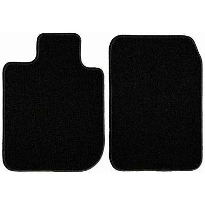 GMC Sierra 1500 Extended Cab Black Classic Carpet Car Mats/Floor Mats, Custom Fit for 2014-2019 (2-Piece)