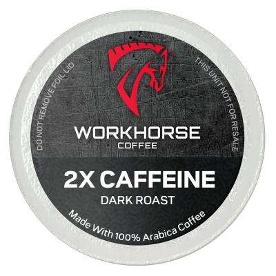 2X Caffeine Coffee Pods (72 Single Serve Cups per Box)