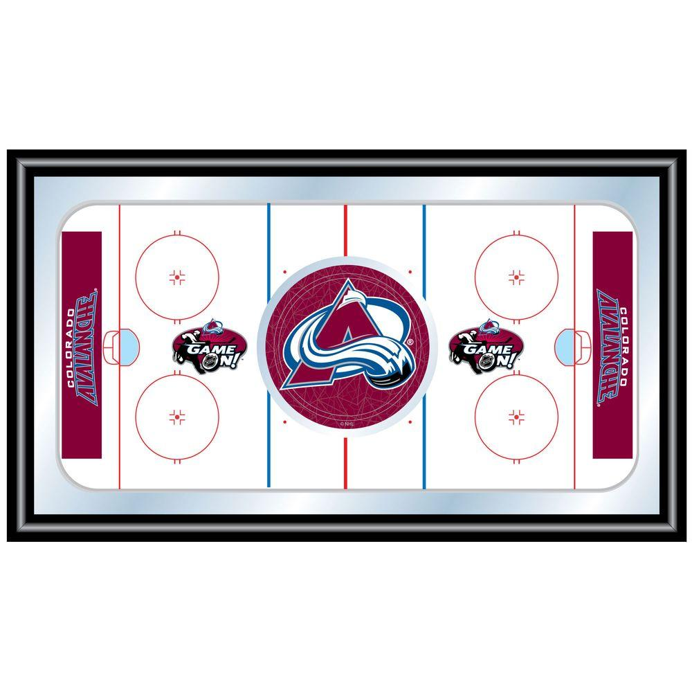 null NHL Colorado Avalanche 15 in. x 26 in. Black Wood Framed Mirror
