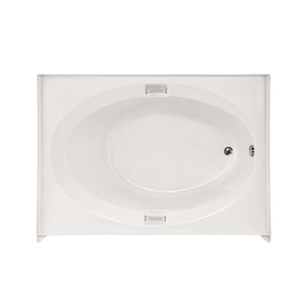 Sonoma 60 in. Acrylic Right Hand Drain Oval Alcove Air Bath Bathtub in White