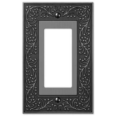 English Garden 1 Decora Wall Plate - Antique Nickel