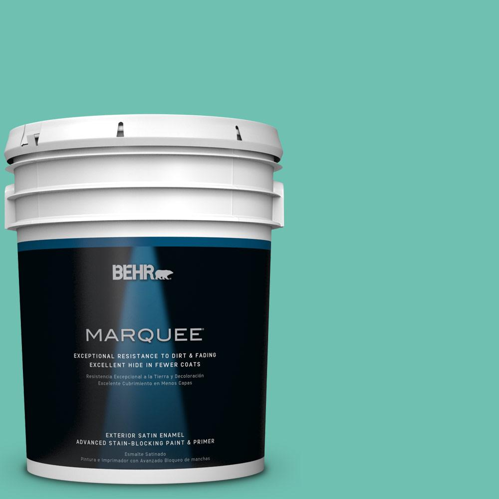 BEHR MARQUEE 5-gal. #P440-4 March Aquamarine Satin Enamel Exterior Paint