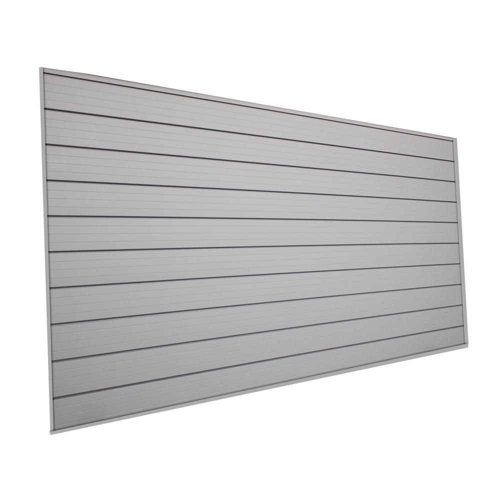 Husky 48 In H X 96 In W Slat Wall Panel In Gray 45202