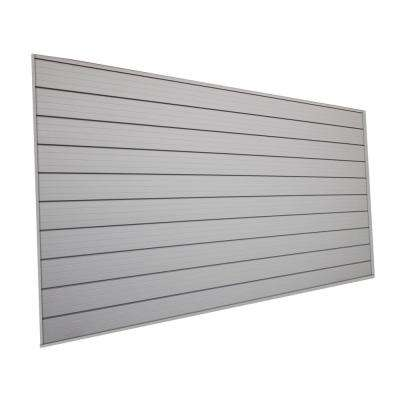 48 in. H x 96 in. W Slat Wall Panel in Gray