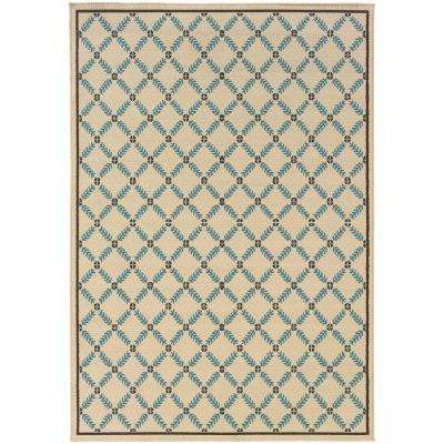 Seaside Cream 9 ft. x 13 ft. Outdoor Area Rug