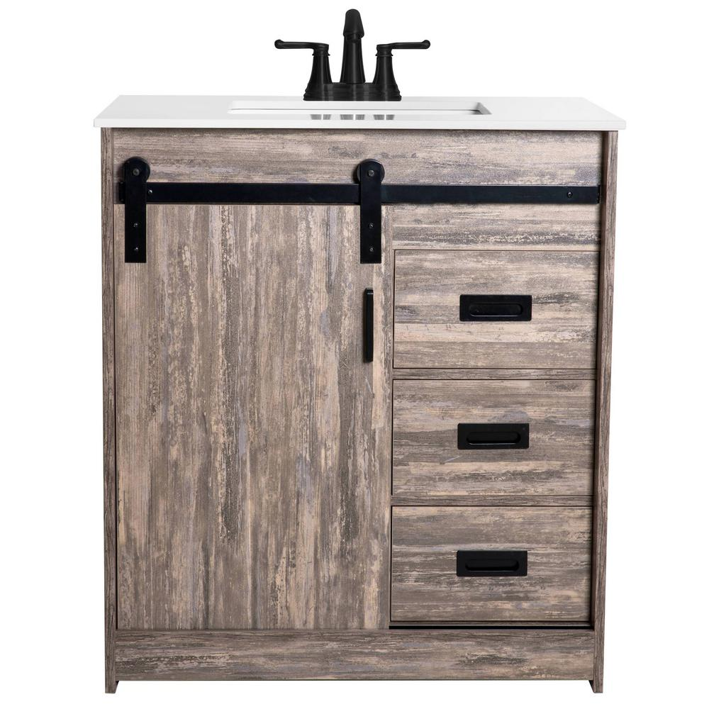 Sheffield Home Cassidy 30 in. W x 19 in. D Bath Vanity in ...
