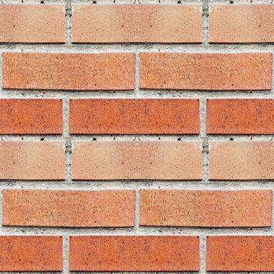 18.2 in. x 36.4 in. Red Bricks Peel and Stick Foam Tile Wall Decal