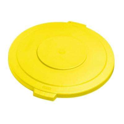 Bronco 32 Gal. Yellow Round Trash Can Lid (4-Pack)
