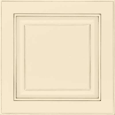 13 in. x 12-7/8 in. Cabinet Door Sample in Olmsted Painted Hazelnut Glaze