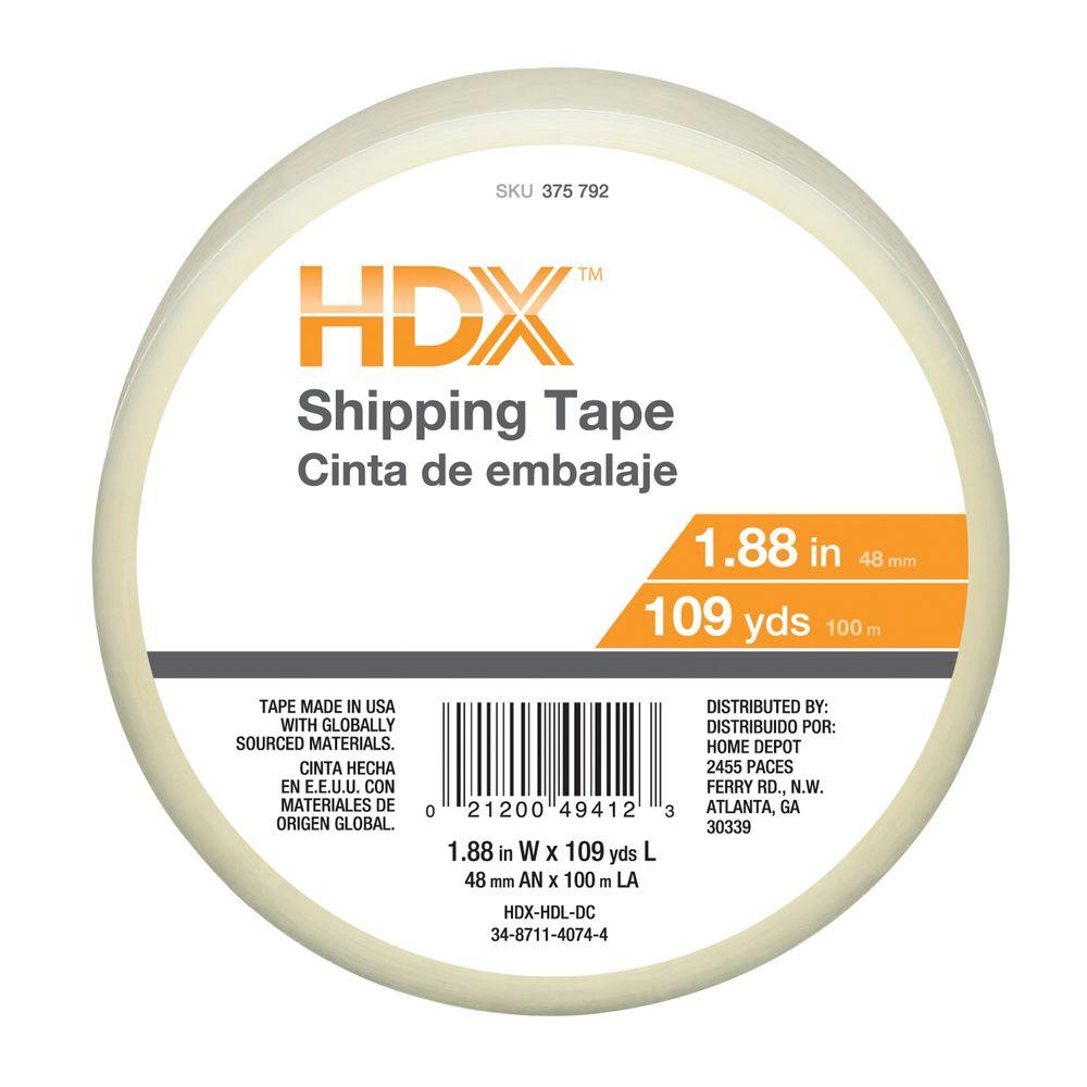 HDX 1.88 in. x 109 yds. Shipping Packaging Tape