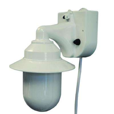 White Outdoor Portable White Wall Lantern with Suction Cup