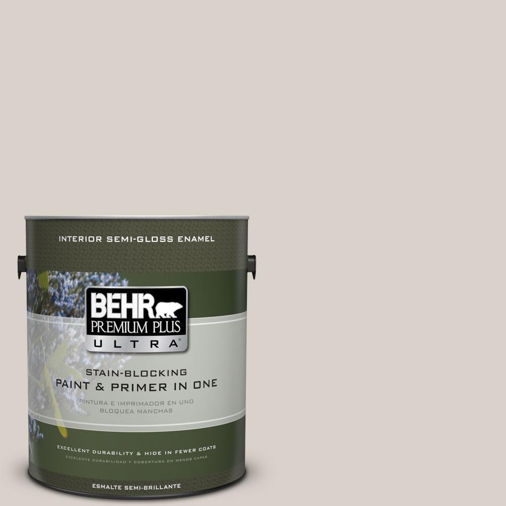 BEHR Premium Plus Ultra 1 gal. #T14-7 Offbeat Semi-Gloss Enamel Interior Paint and Primer in One
