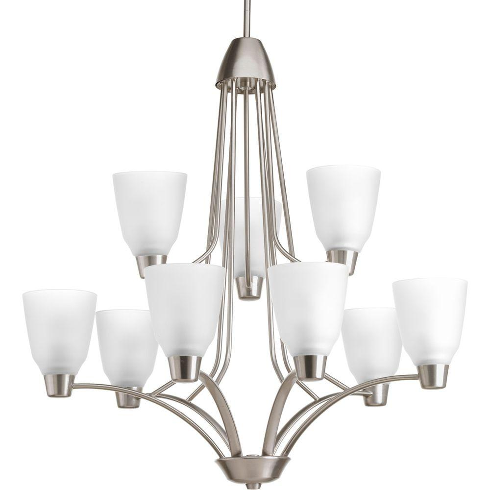 Progress Lighting Asset Collection 9-Light Brushed Nickel Chandelier