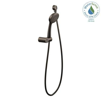 1-Spray Eco-Performance 4 in. Single Wall Mount Handheld Shower Head in Oil Rubbed Bronze