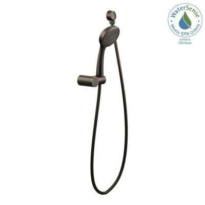 Eco-Performance 1-Spray 4 in. Single Wall Mount Handheld Shower Head in Oil Rubbed Bronze