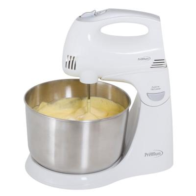 5-Speed Hand Mixer with Stand and 4.5 Qt. Stainless Steel Bowl