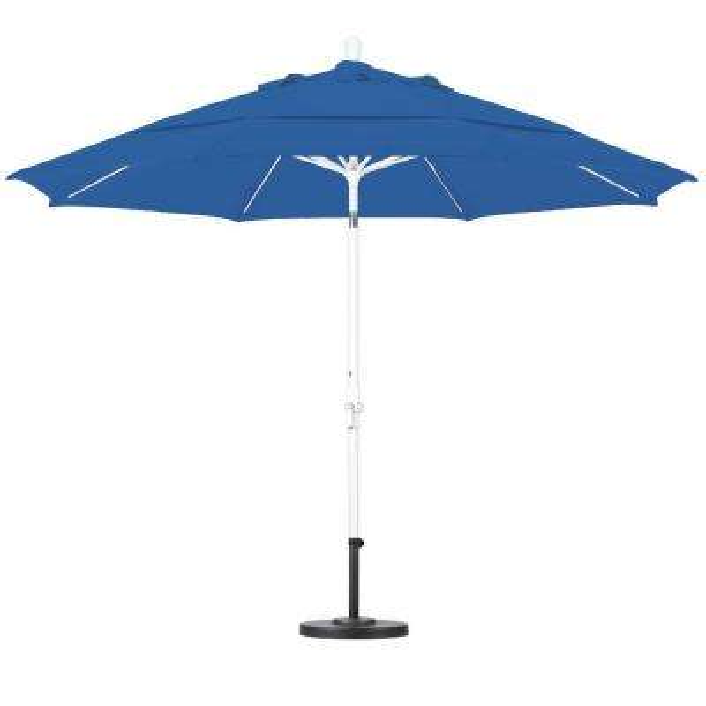11 ft. Fiberglass Collar Tilt Double Vented Patio Umbrella in Pacific Blue Pacifica