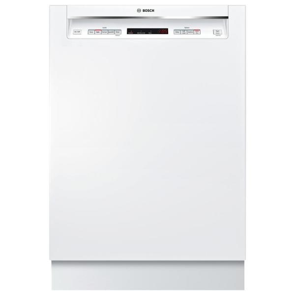 300 Series 24 in. White Front Control Tall Tub Dishwasher with Stainless Steel Tub and 3rd Rack, 44dBA