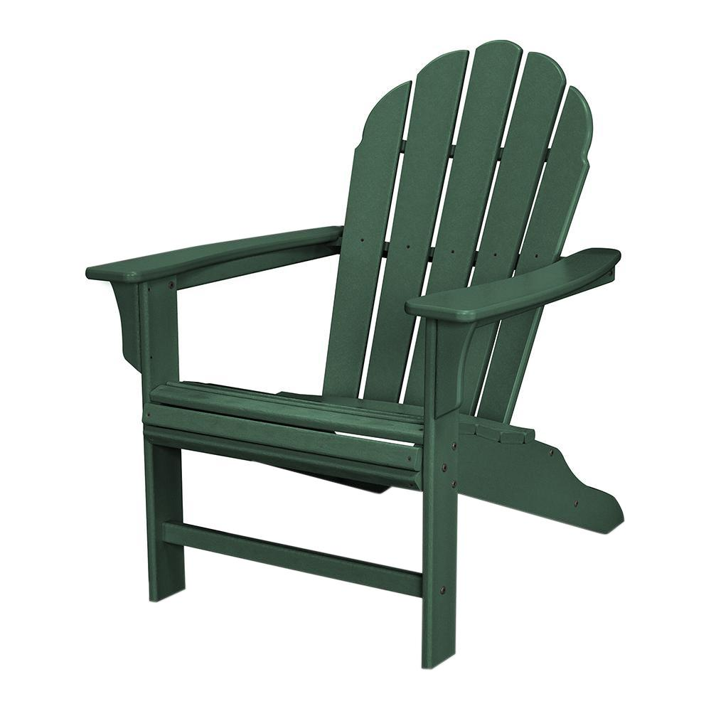 Trex Outdoor Furniture HD Classic White Patio Adirondack Chair TXWA16CW    The Home Depot