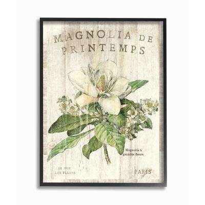"""11 in. x 14 in. """"French Magnolias In Spring"""" by Sue Schlabach Wood Framed Wall Art"""