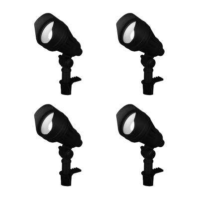 9 8 Watt Millennium Black Adjule Light Color Outdoor Integrated Led Landscape Flood 4 Pack