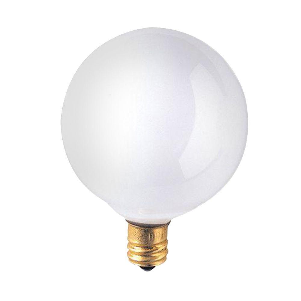 Bulbrite 25-Watt Incandescent G16.5 Light Bulb (25-Pack)