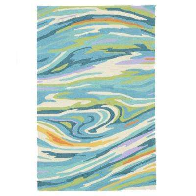 Olivia Lifestyle Collection Teal/Multi 3 ft. 6 in. x 5 ft. 6 in. Area Rug