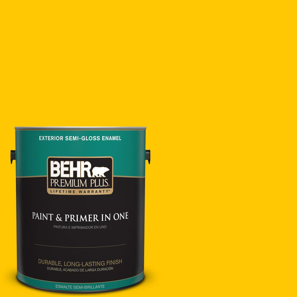 BEHR Premium Plus 1-gal. #S-G-380 Sunny Summer Semi-Gloss Enamel Exterior Paint