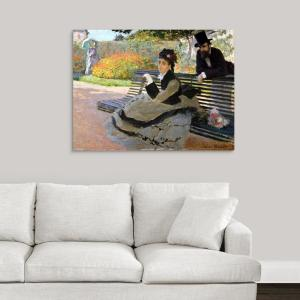 Strange 40 In X 30 In Camille Monet 1847 1879 On A Garden Bench By Claude Monet Canvas Wall Art Evergreenethics Interior Chair Design Evergreenethicsorg