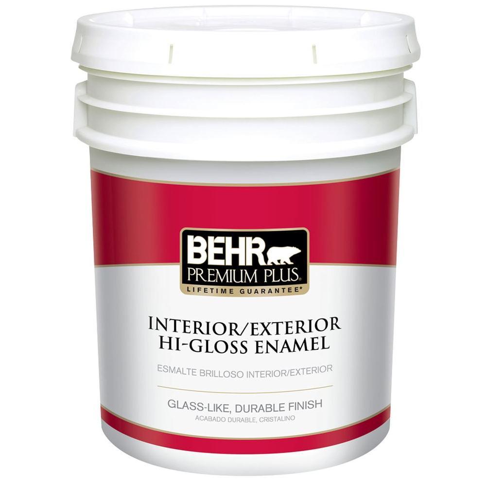 5 gal. Ultra Pure White Hi-Gloss Enamel Interior/Exterior Paint