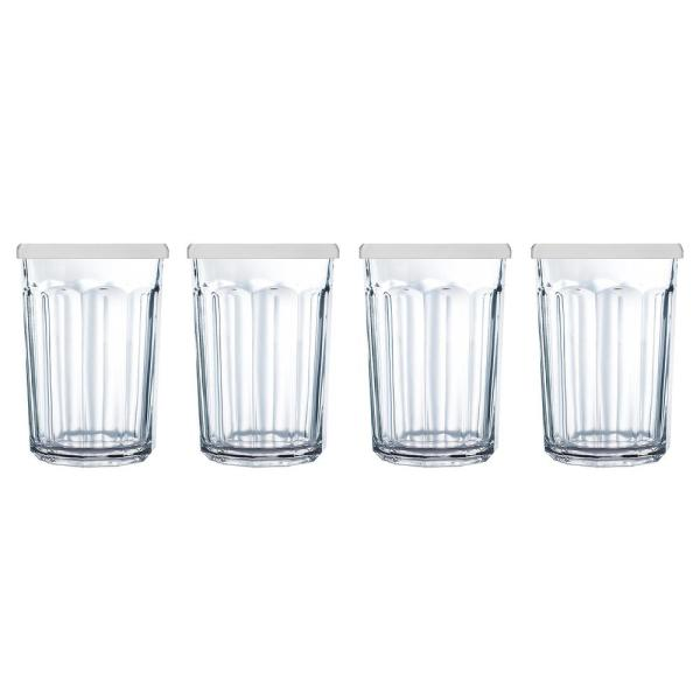 Luminarc Arc International Working Glass Storage Jar//Cooler with White Lid Set