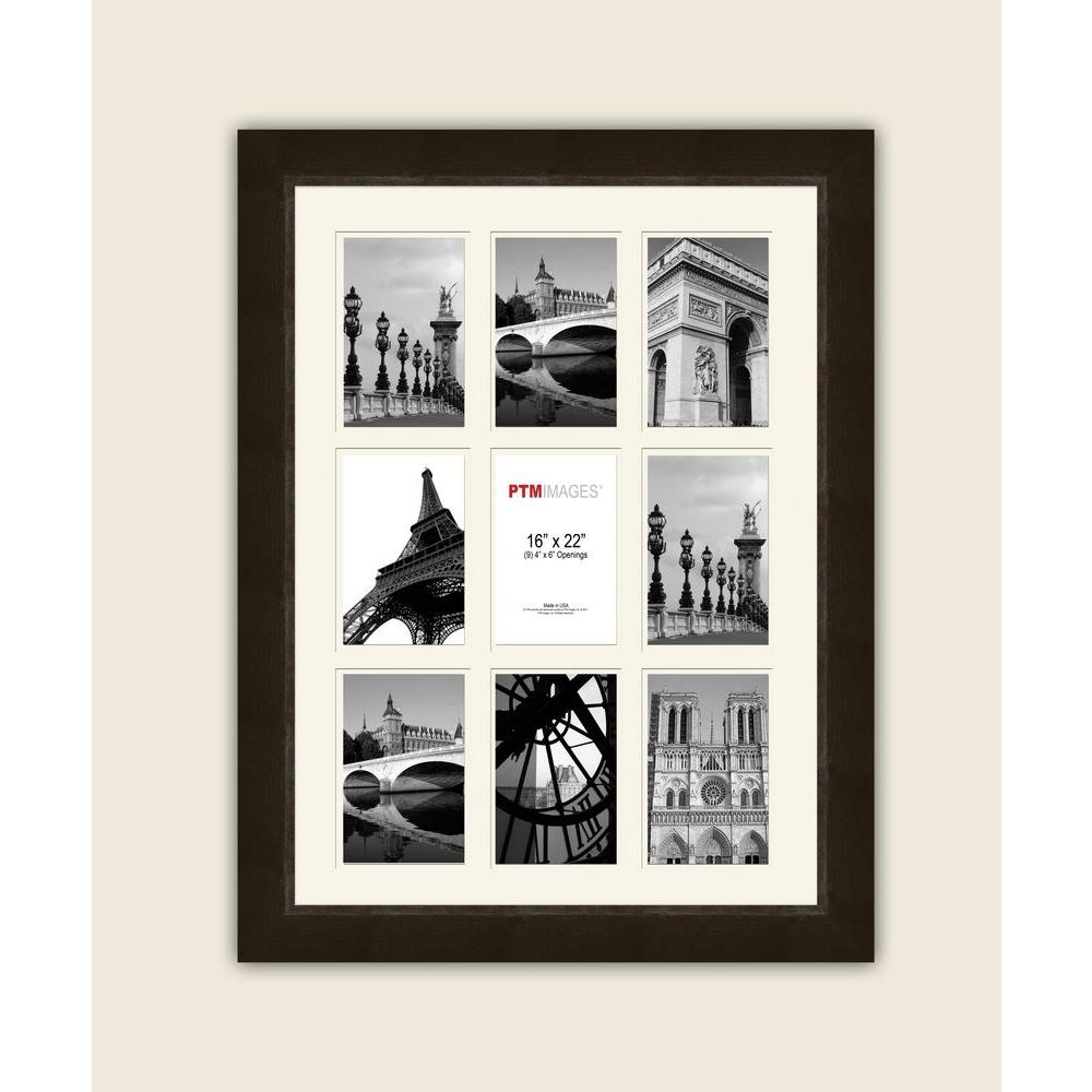 PTM Images 9-Opening 4 in. x 6 in. White Matted Espresso Photo ...