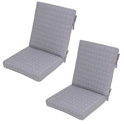 Cement Texture Outdoor Dining Chair Cushion (2-Pack)