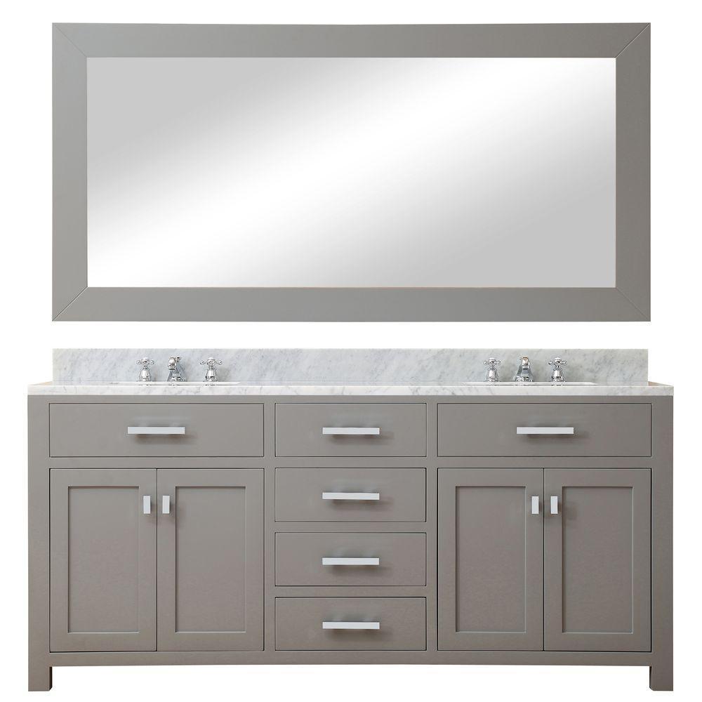 72 in. W x 21 in. D Vanity in Cashmere Grey