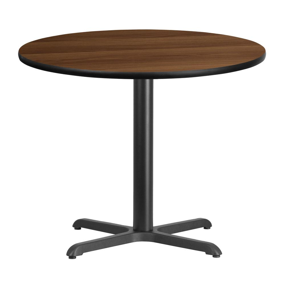 30 Inch Kitchen Table: Flash Furniture 36 In. Round Walnut Laminate Table Top