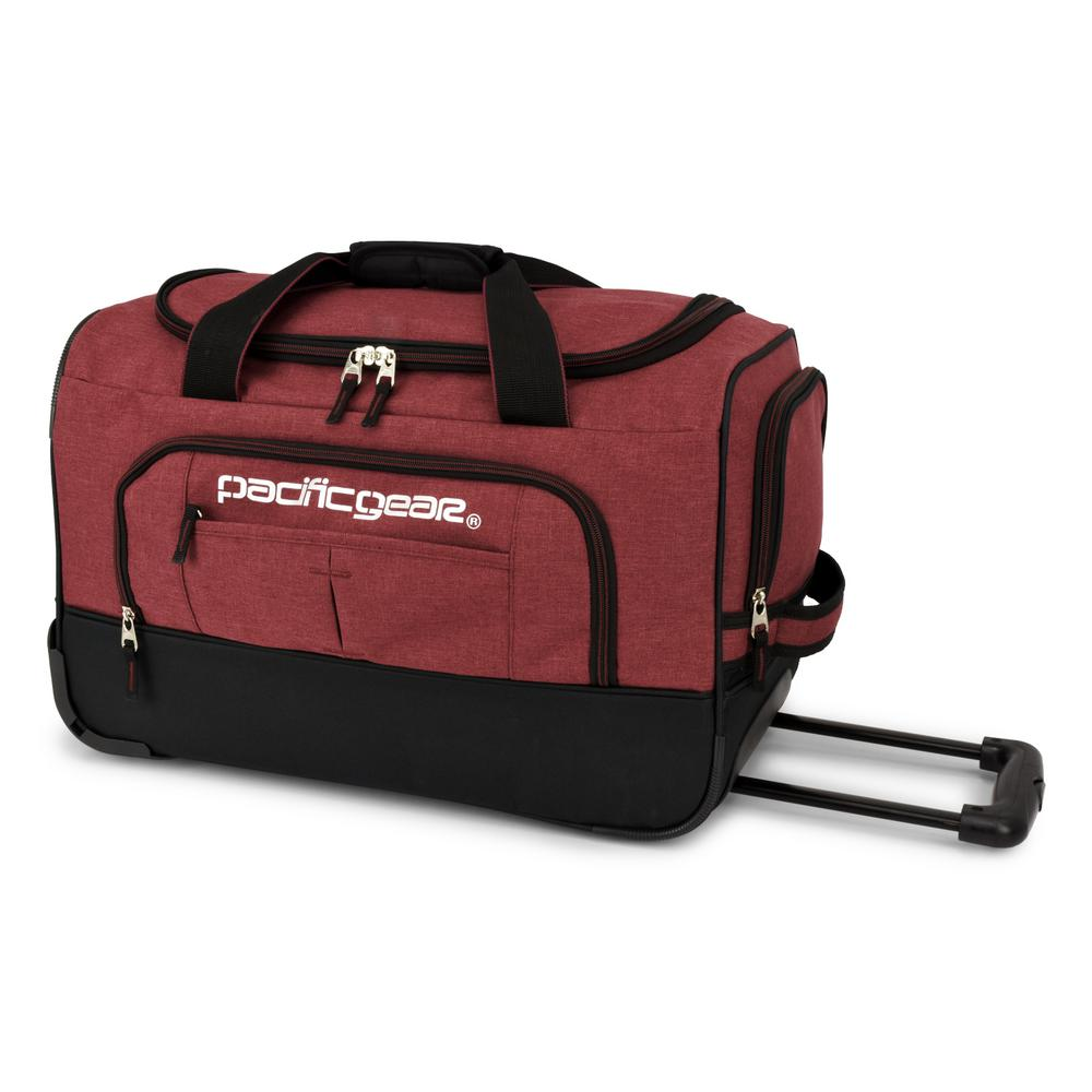 Keystone 21 in. Rolling Burgundy Duffel Bag