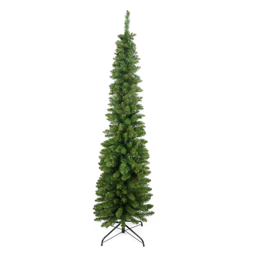 traditional green pine pencil artificial christmas tree unlit