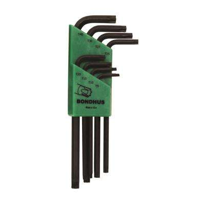 Tamper Resistant TORX Long Arm L-Wrench Set with ProGuard Finish (8-Piece)
