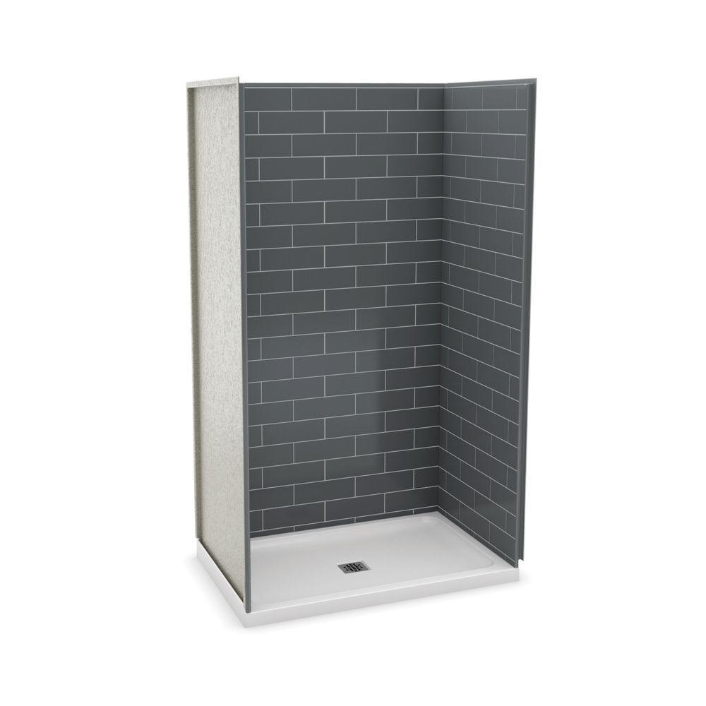 MAAX Utile Metro 32 in. x 48 in. x 83.5 in. Alcove Shower Stall in ...