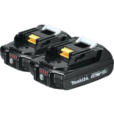 18-Volt LXT Lithium-Ion Compact Battery Pack 2.0Ah with Fuel Gauge (2-Pack)
