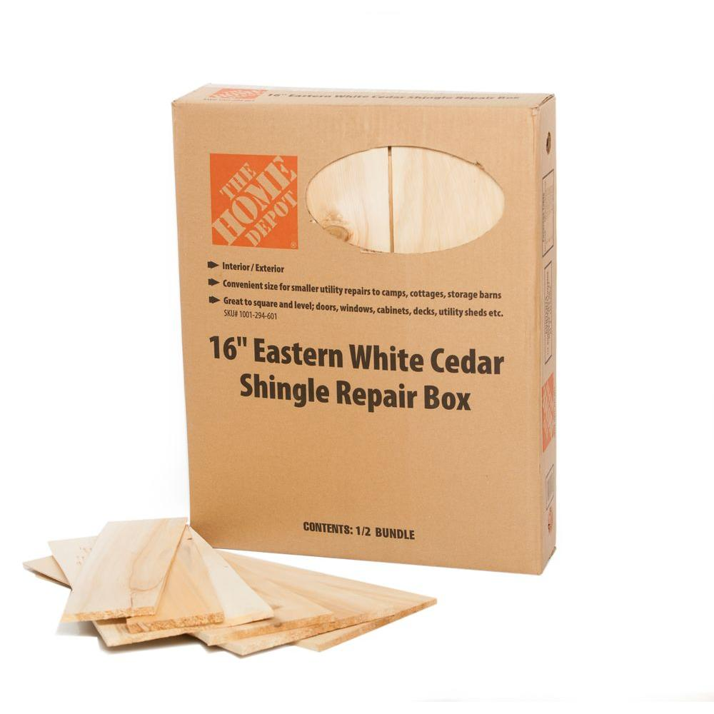 16 in. Eastern White Cedar Shingles Repair Kit (12 sq. ft. per Bundle)