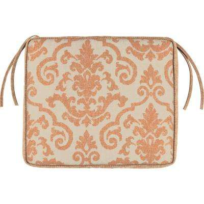 21 x 23 Outdoor Chair Cushion in Sunbrella Rialto Papaya