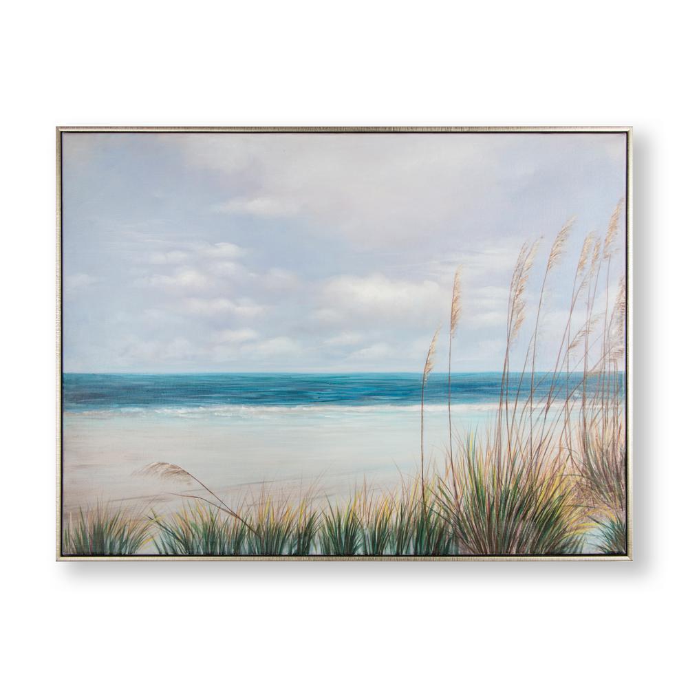 Coastal Shores Framed Canvas Wall Art