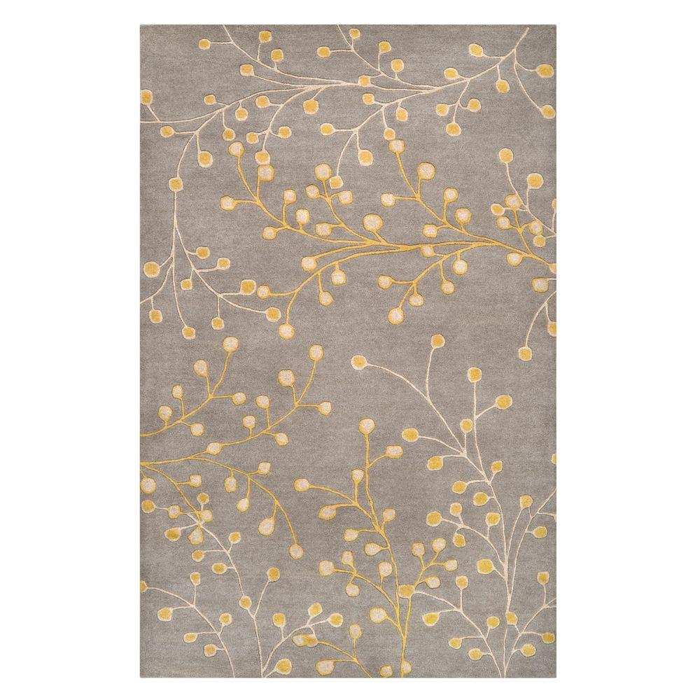 Home Decorators Collection Springtime Gray 2 ft. 3 in. x 3 ft. 9 in. Area Rug