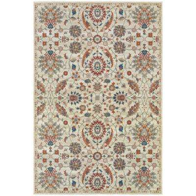 Carriage Beige and Pumpkin 10 ft. x 13 ft. Area Rug