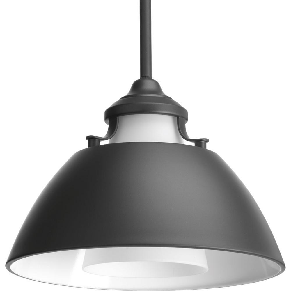 Progress Lighting Carbon Collection 1 Light Graphite Pendant