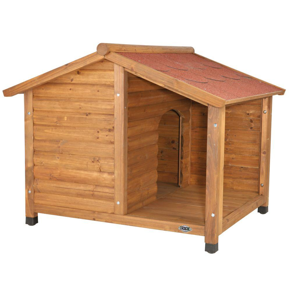 Trixie Rustic Medium Dog House 39511 The Home Depot
