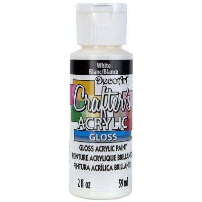 2 oz. White Gloss Crafter's Acrylic Paint